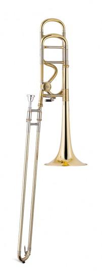 Trombón Tenor Titán Sib/Fa Gold brass 1 rosca Image