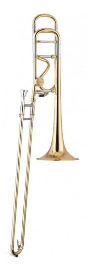 Trombón Tenor Titán Sib/Fa Gold brass 2 roscas Image